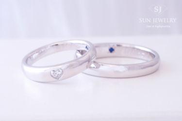 ハートシェイプダイヤモンド結婚指輪