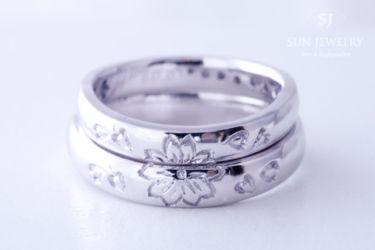 桜モチーフ結婚指輪