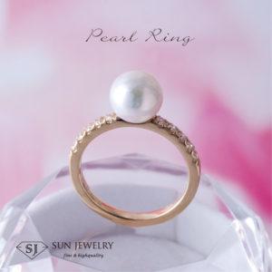 真珠ゴールドリング
