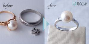 真珠の指輪 リフォーム