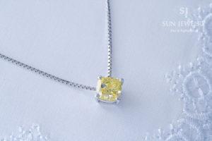 イエローダイヤモンドネックレス